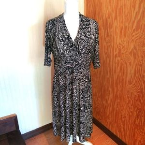 Evan-Picone Elegant Short Sleeve Dress EUC